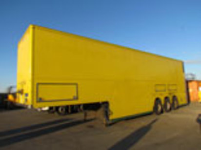 GRAY ADEMS DOUBLE DECK BOX TRAILER